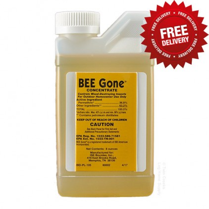 Bee Gone Insecticide - 8 Oz. Bottle - Free Shipping