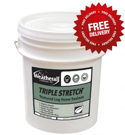Weatherall Triple Stretch Chinking - Free Shipping on 5 Gallon Pails