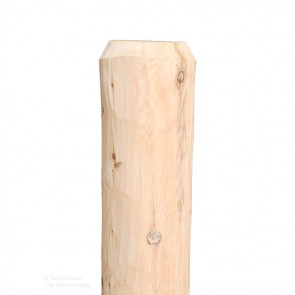 Non-Drilled or Notched White Cedar Hand Peeled Rail Post