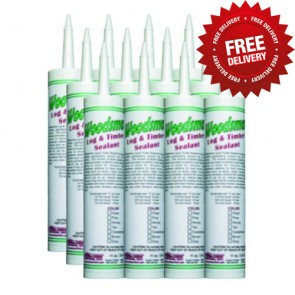 Perma-Chink Woodsman Caulk - (12) 11 Oz. Tubes - Free Shipping