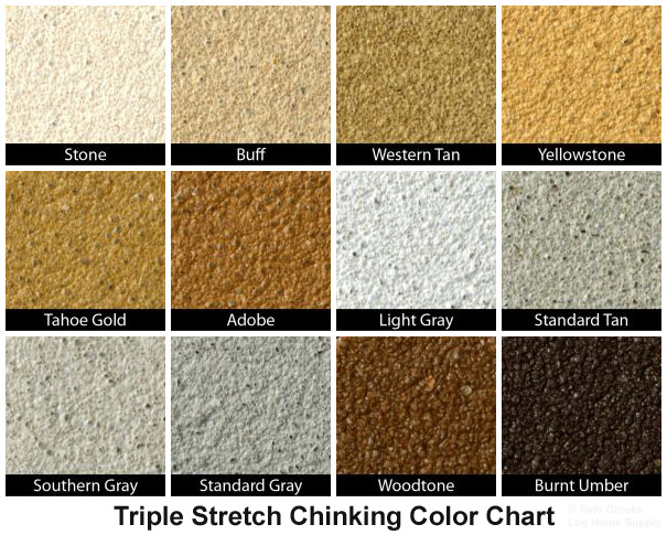 Weatherall Triple Stretch Chinking Color Chips